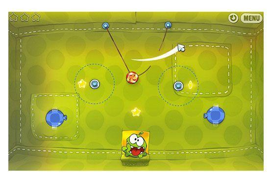 O aplicativo ensina intuitivamente conceitos de Física, como gravidade e teoria das roldanas, a partir da brincadeira de alimentar o sapo.