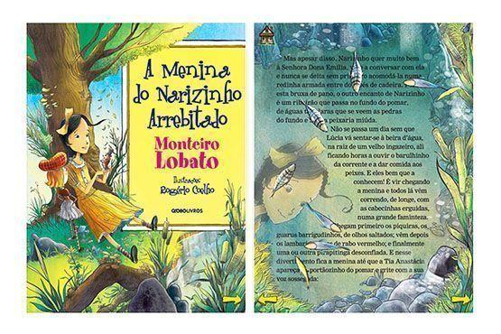 """A Editora Globo lançou o título """"A Menina do Narizinho Arrebitado"""", de Monteiro Lobato que é gratuito."""