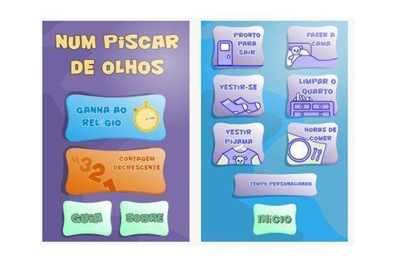 O aplicativo é um cronômetro animado e musical que desafia as crianças a executarem as tarefas num determinado tempo.