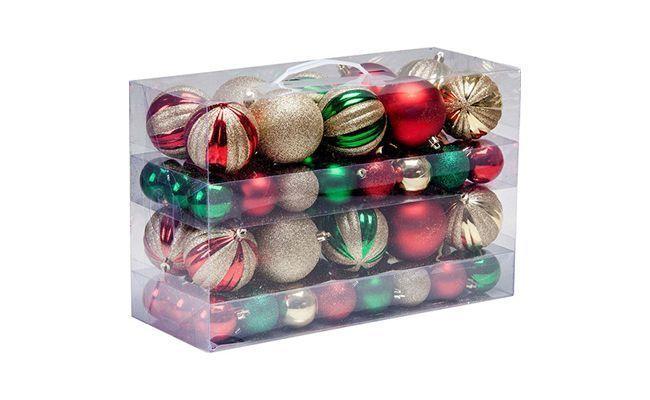 """Kit Bolas Coloridas Decoradas e Lisas com 80 Unidades Christmas Traditions por R$ 129,00 na <a href=""""http://www.americanas.com.br/produto/113989951/kit-bolas-coloridas-decoradas-e-lisas-com-80-unidades-christmas-traditions"""" target=""""_blank"""">Lojas Americanas</a>"""