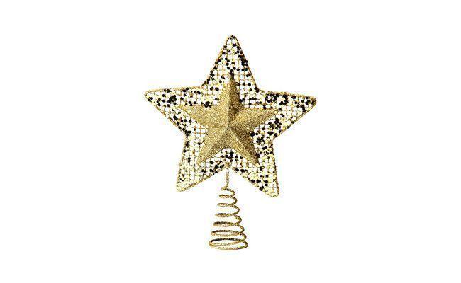 """Ponteira em Metal Estrela Brilhante Dourada por R$ 39,90 na <a href=""""http://www.americanas.com.br/produto/114206103/ponteira-em-metal-estrela-brilhante-dourada-christmas-traditions"""" target=""""_blank"""">Lojas Americanas</a>"""
