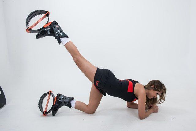 <b>Glúteos:</b> exercícios tradicionais ganham uma versão especial com o Kangoo Jumps.
