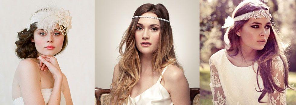 O headband é indicado para noivas que se identificam com o estilo hippie chic que ele dá ao look.
