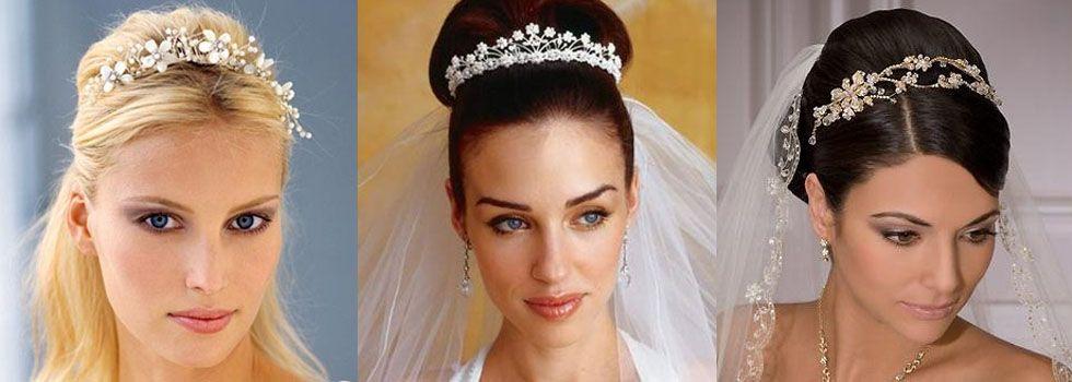 As tiaras estilo princesa são ideais para noivas que não dispensam a tradição e o romantismo no grande dia.