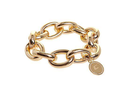 <p>Pulseira dourada Carmim por R$453 na Loja Dafiti.</p>
