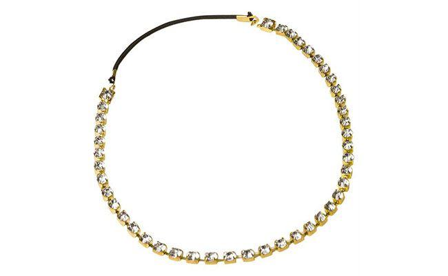 """Tiara de strass Moda Pop por R$9,90 na <a href=""""http://www.posthaus.com.br/moda/tiara-strass-com-elastico_art146911_61.html"""" target=""""blank_"""">Posthaus</a>"""