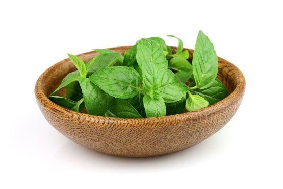 Rica em vitaminas A,B e C e também em cálcio, fósforo, ferro e potássio, a hortelã estimula a boa digestão.