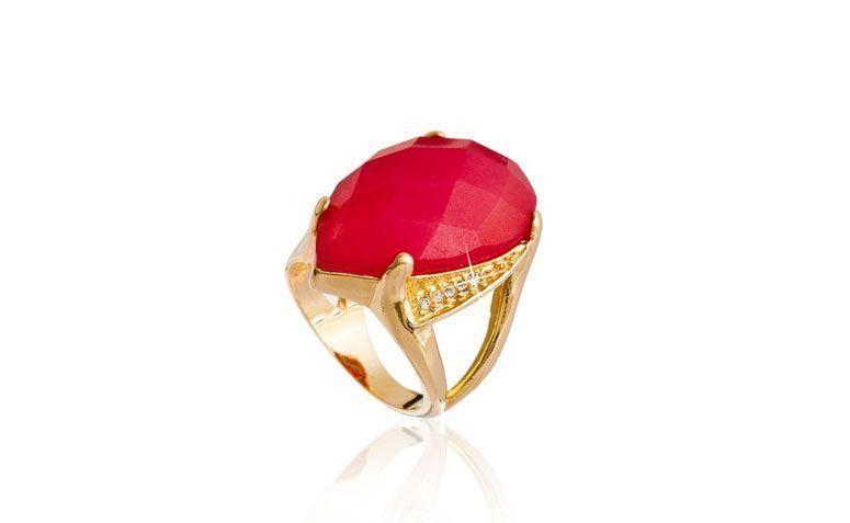 """Anel com ágata vermelha por R$139,00 na <a href="""" http://www.franciscajoias.com.br/anel-pedra-natural-agata-vermelha-folheado-em-ouro-18k.html"""" target=""""blank_"""">Francisca Jóias</a>"""