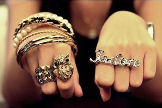 Combinação: mix de anéis + anel duplo escrito
