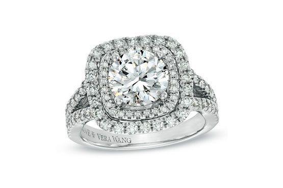 Anel de noivado Vera Wang Love Collection por US$29.999,99 (aprox. 70 mil Reais)