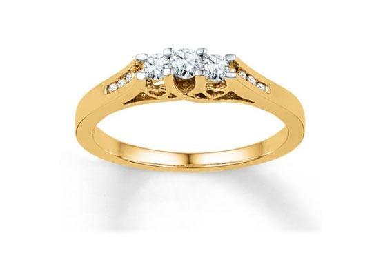"Anel de noivado Jared ""Gallery of Jewellry"" US$499,99 (aprox.1.200 Reais)"