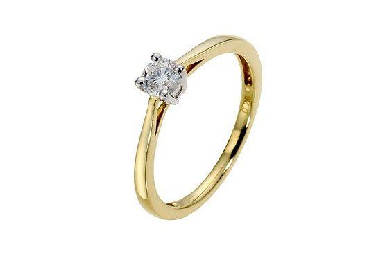 Anel de noivado H. Samuel por £495,00 (aprox. 1.500 Reais)