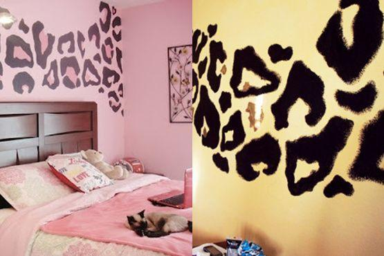 Pintura na parede animal print