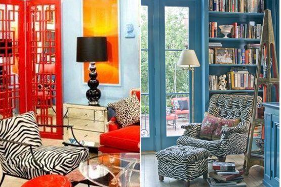 Combinação: cores vivas e animal print