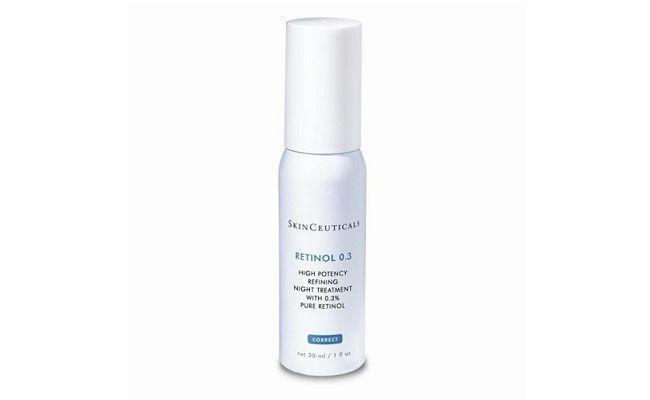 "Retinol 0.3 – SkinCeuticals por R$ 207,90 na <a href=""http://www.skinceuticals.com.br/retinol-0-3-30ml/p"" target=""_blank"">loja virtual da SkinCeuticals</a>"