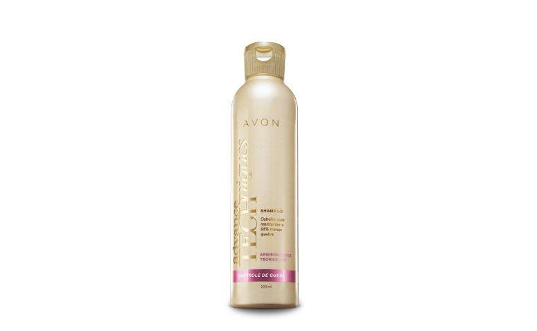 "Avon Advance com Arginina por R$8,99 na <a href=""http://www.belezaflor.com.br/avon-advance-techniques-controle-de-queda-arginina-shampoo?gclid=CJGNnKjAxsMCFdcegQodRSsAfQ"" target=""blank_""> Beleza Flor</a>"