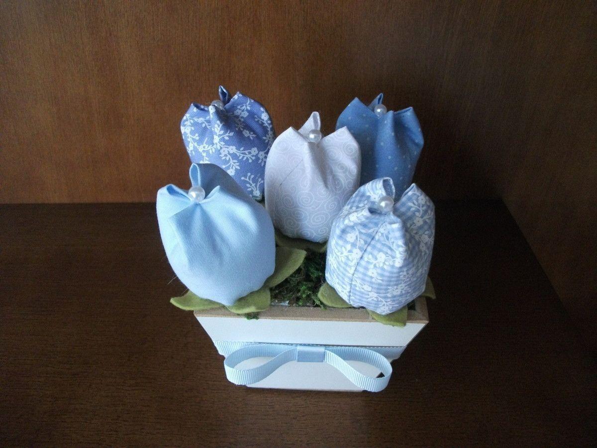 Mini tulipan wazon w tkance przez R $ 10 w Elo7