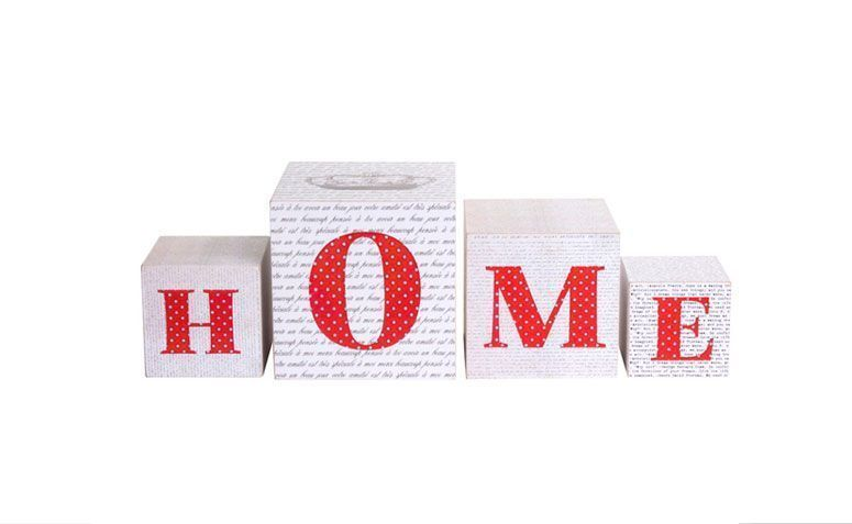 Ozdoby kostki dom dla R $ 65.00 Moje drewniane meble