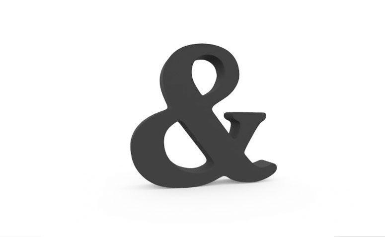 """dekoracyjny symbolu """"&"""" dla R $ 19,90 w Love Letter"""