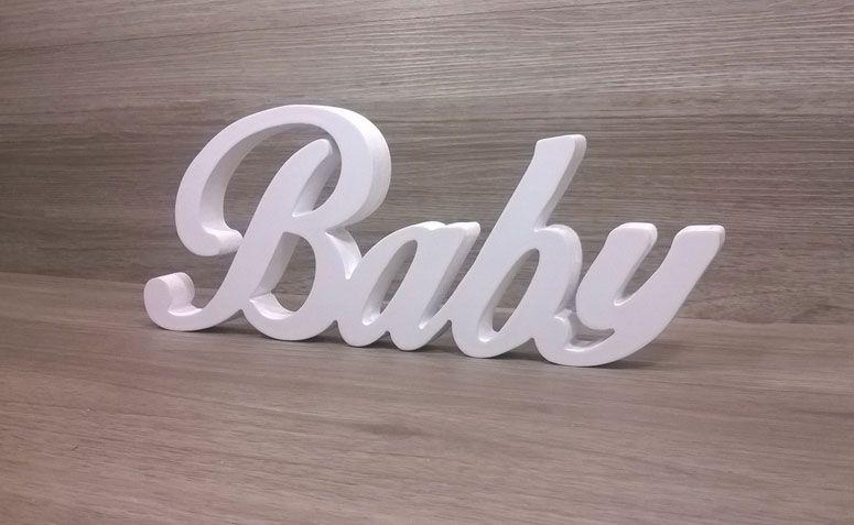 Słowo niemowląt MDF R $ 29.99 Elo7