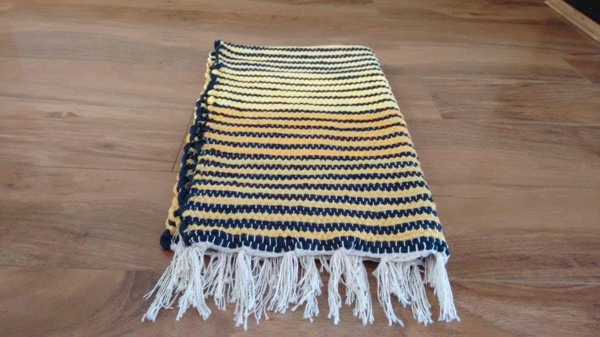 Żółte paski dywan krosna do US $ 9.90 w Elo7