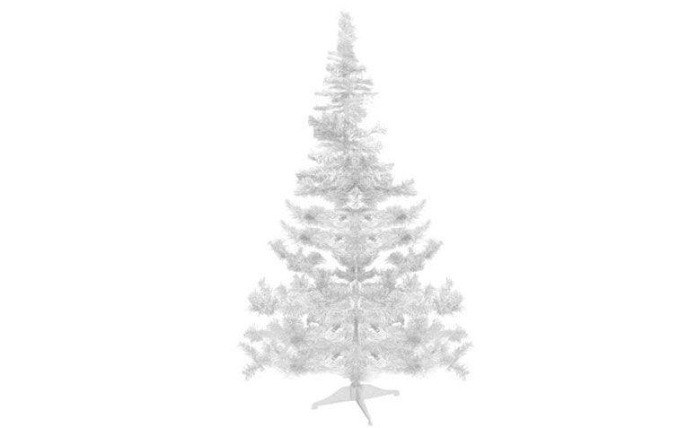 Árbol de navidad blanco 1,80 m de R $ 159,90 noExtra