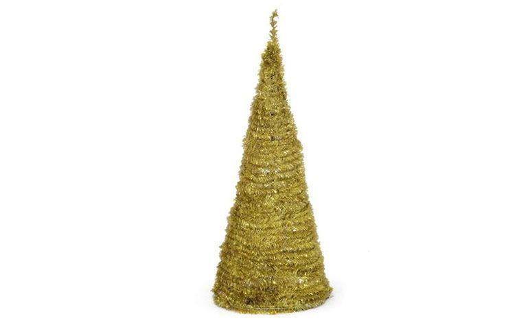 Árbol de Navidad de oro de 1,20 m de R $ 99.90 en extra