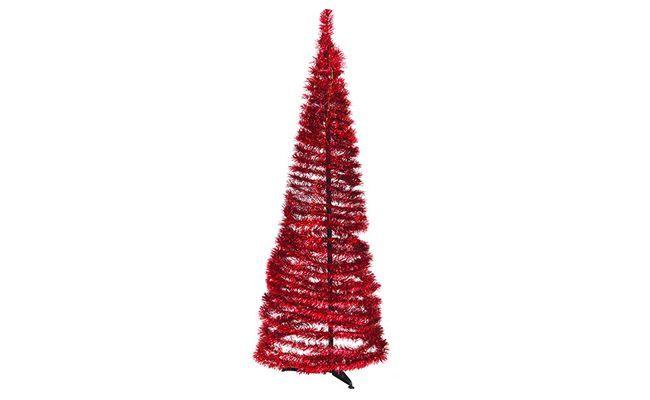 Árbol de navidad rojo de 1,5 m de R $ 219.00 en los EE.UU.