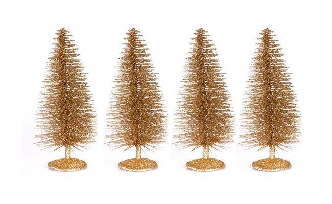 árboles de navidad de oro kit para $ 18.23 en extra