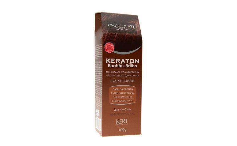 """Banho de brilho Keraton por R$22,16 na <a href=""""http://www.perfumariaseiki.com.br/tonalizante-sem-amonia-banho-de-brilho-chocolate-marrom-100g---keraton-21684/p"""" target=""""blank_"""">Perfumaria Seiki</a>"""