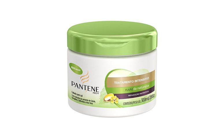 "Creme de tratamento intensivo Pantene por R$14,90 na <a href=""http://www.netfarma.com.br/produto/21972/creme-de-tratamento-intensivo-pantene-fusao-da-natureza-reparacao-nutritiva"" target=""blank_"">Netfarma</a>"
