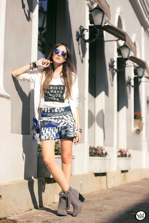 "Foto: Reprodução / <a href=""http://fashioncoolture.com.br/2015/05/16/morina-look-blazer-branco-boyfriend-tshirt-paris/"" target=""_blank"">Fashion Coolture</a>"