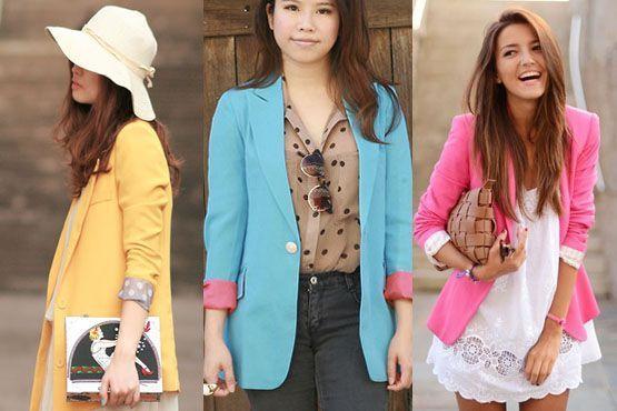 blazer colorido10 A moda do blazer colorido