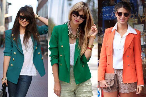 blazer colorido11 A moda do blazer colorido