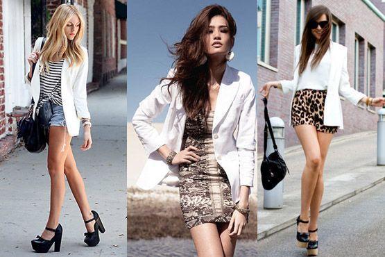 Blazer branco também está na moda