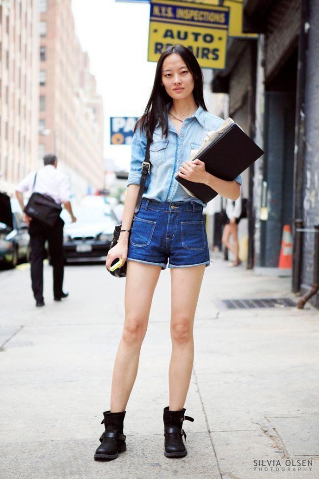 "Foto: Reprodução / <a href=""http://silviaolsen.blogspot.com.br/2013/04/new-york-fashion-week-double-denim.html"" target=""_blank"">Silvia Olsen</a>"