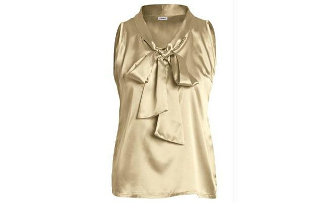 satin blouse with detail on the collar for $ 59.99 in Posthaus