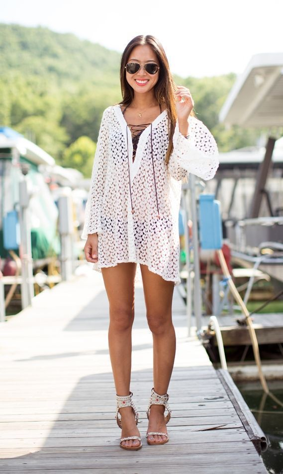 "Foto: Reprodução / <a href=""http://www.songofstyle.com/2013/07/perfect-vacation-cover-up.html"" target=""_blank"">Song of Style</a>"