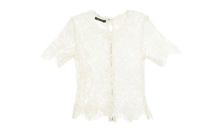 putih lace blaus Pat Pat's por R$603 na Gallerist