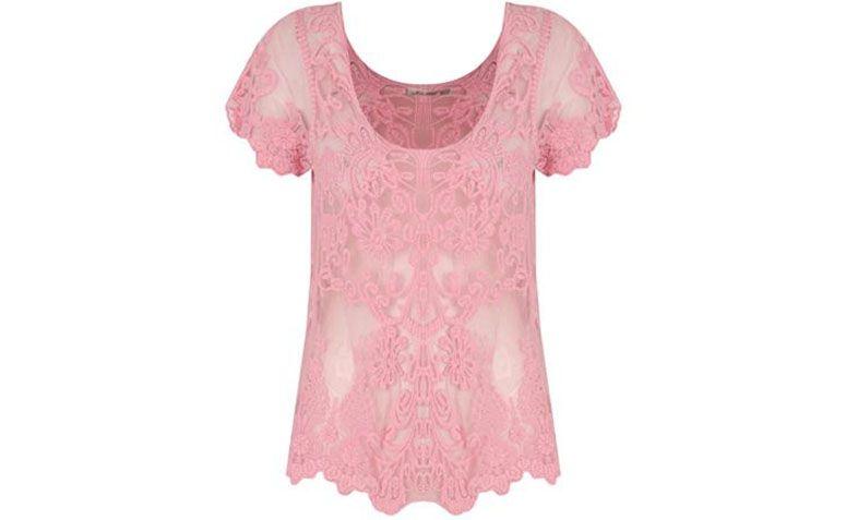 merah jambu baju lace untuk $ 119 dalam Capitollium