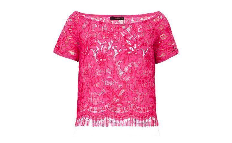lace merah jambu baju pink Leeloo oleh R $ 298 dalam Dafiti