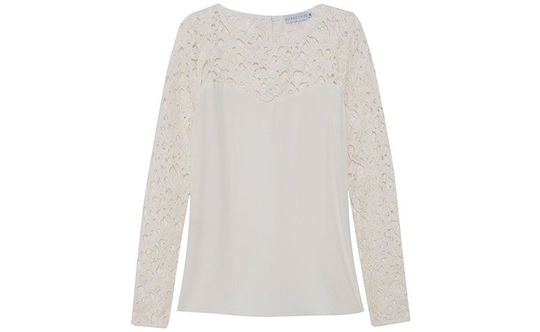 Putih lace blaus Market 33 untuk $ 299 dalam OQVestir