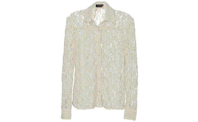 lace putih blaus My Place oleh R $ 199 dalam Glamour