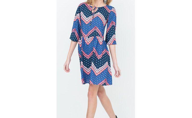 print dress for $ 139 at Lojas Renner