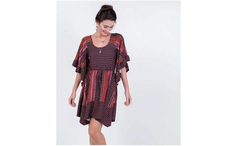print dress for $ 109 at Lojas Renner