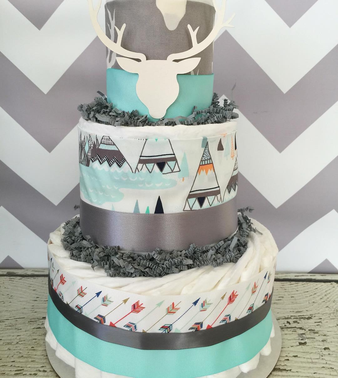 """Foto: Reprodução / <a href=""""https://www.instagram.com/p/BAsTmF4AC3L/"""" target=""""_blank"""">All diaper cakes</a>"""