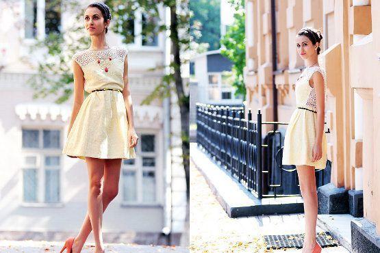 Outra peça coringa para este estilo é o vestido acinturado e leve. Geralmente arrematado com um cinto fino.