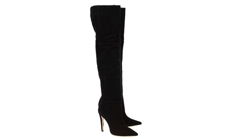 Overknee Boot Black Suede Luiza Barcelos by R $ 899.00 in Gallerist