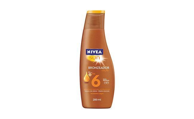 """Loção bronzeador Nivea Sun por R$19,90 na <a href=""""http://www.netfarma.com.br/Produto/25500/locao-bronzeadora-nivea-sun-fps-6?"""" target=""""blank_"""">Netfarma</a>"""