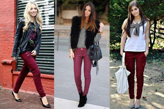 j Burgundy é a cor do inverno 2012